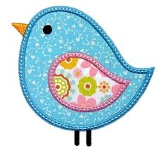 Birdie Applique - lots of sweet applique/embroidery designs here