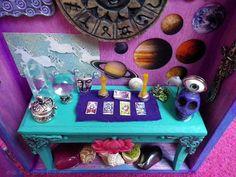 DEPOSIT Psychic Astrologer Diorama Shadowbox by lotusfairy