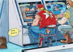 Terry in the arcade Art Of Fighting, Fighting Games, Snk Games, Snk King Of Fighters, Manga, Ryu Street Fighter, Hero World, Anime Crossover, Cultura Pop