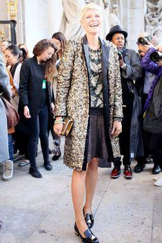 "10 Ways to Wear Sequins ""Mix Prints"" http://laurenmessiah.com/2013/12/10-ways-wear-sequins-2/"