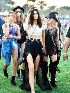 Die besten Coachella-Looks 2015. Die Kendall Crew ist wie immer ganz vorne dabei wenn es um das perfekte Festiva-Styling geht.