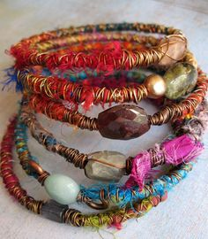 fabric ~ wire ~ jewels