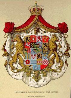 Grosses Staatswappen, Sachsen-Coburg und Gotha