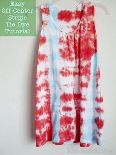 The Shed: Easy Off-Center Stripe Tie Dye Tutorial