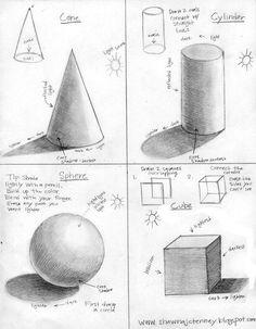 Basic Drawing Tutorial For Elementary – Menlo Park Art Basic Drawing, Drawing Skills, Shading Drawing, 3d Art Drawing, Form Drawing, Basics Of Drawing, Drawing Classes, Art Basics, Learn Drawing
