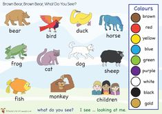 Brown Bear, Brown Bear, What Do You See? Word mat