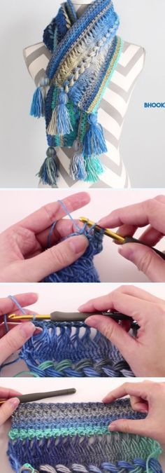 This is Step by step guided video tutorial how to crochet this Hairpin Lace Infinity Scarf. This crochet Hairpin Lace Infinity Scarf is very simple to make and adorable. This video tutorial is for beginners and for experts…Read Beginner Crochet Projects, Crochet Patterns For Beginners, Knitting Patterns, Scarf Patterns, Knitting Ideas, Broomstick Lace, Crochet World, Free Crochet, Knit Crochet