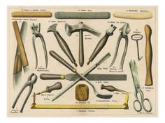 Various Tools Used by a Shoemaker or Cobbler | Tools, Names and Shoes