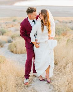 The perfect combination of maroon and white on your wedding date. Suit by custom made by: www.hmcole.com    #maritalbliss #velvetsuits #weddingday #weddingsuit #007 #dapper #dressbetter #hmcoleclothing #hellohandsome #weddingbliss #weddinginspirations #bestdressed #weddingstyle #utahbrides #weddingparty #utahbride #utahwedding #utahweddingphotographer #weddingphotographer #bride #naturalweddingphotography #modernweddingphotography #greenweddingshoes #theknot #junebugweddings #smpweddings…