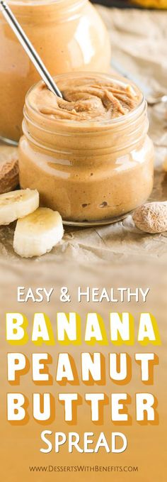 Like bananas? Like peanut butter? Then you'll LOVE this Healthy Banana Peanut Butter Spread! It's delicious, perfect on toast, oatmeal, even ice cream! Sugar Free Desserts, Low Carb Desserts, Healthy Dessert Recipes, Health Desserts, Gluten Free Desserts, Vegan Desserts, Low Carb Recipes, Vegan Recipes, Diabetic Snacks