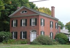 Glastonbury CT 1828 Colonial HousesEarly Classical Revival
