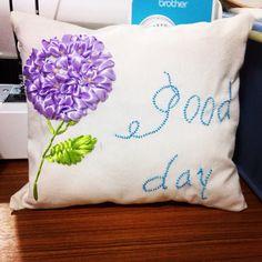 Handmade Hydrangea Pillow