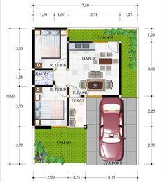New exterior apartment projects ideas 3d House Plans, Small House Floor Plans, Dream House Plans, Home Map Design, Home Design Plans, Minimalist House Design, Small House Design, The Plan, How To Plan