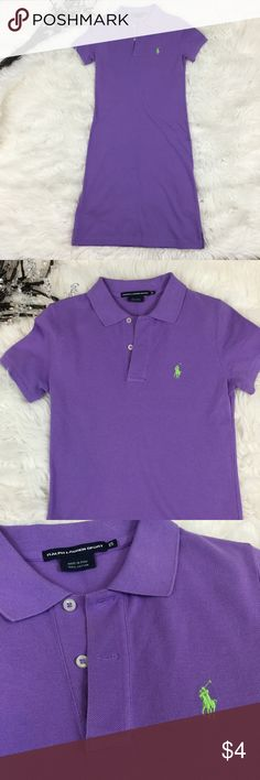 RALPH LAUREN SPORT XS POLO DRESS See my other cute items**  size XS, makeup smudge near button hole.  100% cotton. Ralph Lauren Sport Dresses Midi