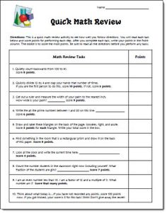 Fun April Fool's Day Math Review activity with some tricky directions. On this page, you'll also find an April Fool's Day word challenge activity. Both are available in the April Activities Mini Pack. $