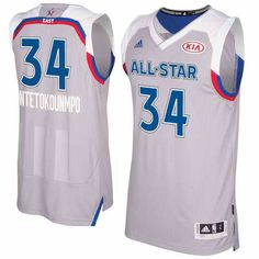 22 Men s Eastern Conference  34 Giannis Antetokounmpo adidas Gray 2017 NBA  All-Star Game 02d293229