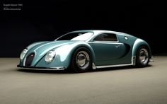 Bugatti Veyron, from the year 1945. http://www.topgear.com/uk/car-news/bugatti-veyron-volkswagen-beetle-render-2013-02-07
