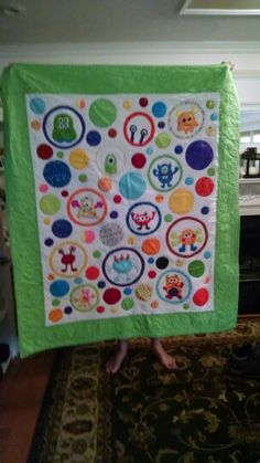 Monster quilt i made for my first grandchild