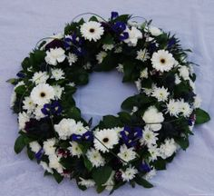 white flower wreaths | Red Purple and White Wreath