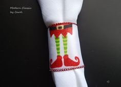 ELF Party NAPKIN RINGS for Kids 12 Elf Boots от CustomNapkinRings