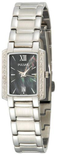 Women's PXT699 Diamond Black Mother Of Pearl Dial Stainless Steel Watch -- Check out this great product.(It is Amazon affiliate link) #WearIT