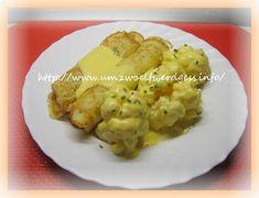 Dinkel -Kräuterpfannkuchen mit Blumenkohl und Sauce Hollandaise