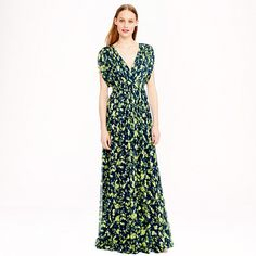 J.Crew - Claire dress in floral chiffon