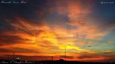 Un maravilloso atardecer en Hermosillo, Sonora... Me encantan los juegos de luz que se crean entre los rayos de sol y las nubes... Regalos de Dios