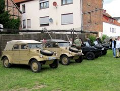 Military vehicles from 2nd world war, Vintage VW treffen, Hessisch Oldendorf, Germany 2013