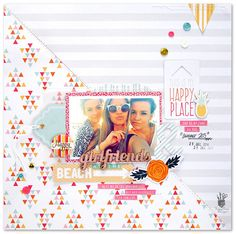 Layout: Girlfriends on the Beach *Fancy pants Designs*