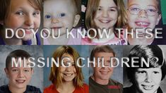 Do You Know These Missing Children? It's a tragedy when a child goes missing, both for the families involved and the entire country. Please take a look at the following photos of missing children from the National Center For Missing And Exploited Children and do your part.  http://www.katiecouric.com/features/do-you-know-these-missing-children/