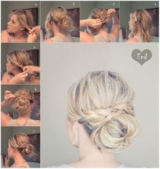Messy Braid Bun for Medium Hair: Updos Tutorials by eugenia