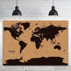 Korkowa Mapa Świata XXL