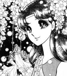 "Art from ""Glass Mask"" series by manga artist Suzue Miuchi."