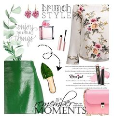 """""""Mother's Day Brunch Goals"""" by lacas ❤ liked on Polyvore featuring Ralph Lauren, Courrèges, Too Faced Cosmetics, Valentino, Rina Limor, L.A. Girl, Charlotte Olympia and brunchgoals"""
