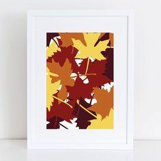 Maple Leaves, Maple Leaf Prints, Leaf Wall Art, Autumn Wall Art, Fall Prints, Printable Leaves, Fall Home Decor, Autumn Decor, Wall Decor on Etsy, $5.00