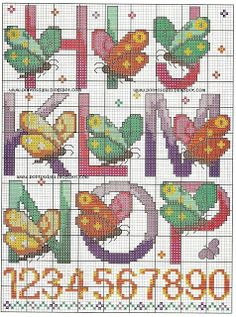 ,abcs embroidery butterflies