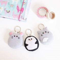 This evening movie and lot of keychains to sew! �  .  #mouse #etsyit #penguin #kawaii #etsy #etsyshop #etsyseller #felt #etsyfinds #etsystore #cute #handmade #fattoamano #feltro #keychain #keyring #washitape #lama #cat #cats #animals #anim
