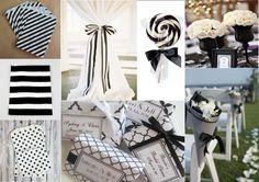 allestimenti in bianco e nero per un matrimonio di sicuro effetto
