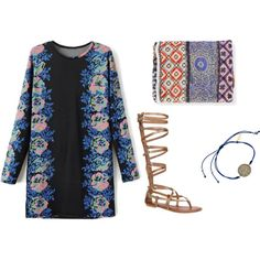 60's: Mini dress by missjulee on Polyvore featuring polyvore, fashion, style, ALDO, Blee Inara and Faliero Sarti