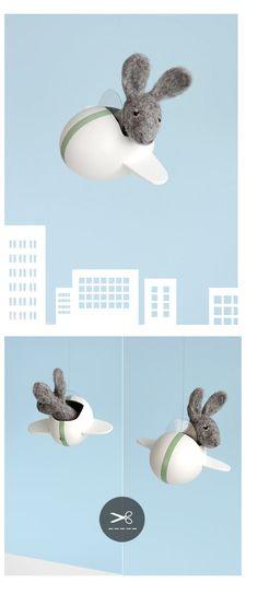 DIY bunny plane easter egg > Sonja Egger - ars pro toto: Überraschungseier (filmreife Eierbasteleien)