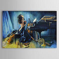 現代アートなモダン キャンバスアート 絵 壁 壁掛け 油絵の特大抽象画1枚で1セット ヌード 音楽 グランドピアノ 裸体 はだか 楽器 美しい 女性【納期】お取り寄せ2~3週間前後で発送予定【送料無料】ポイント
