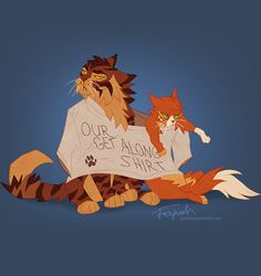 Squirrel(paw?) and Brambleclaw XD (at first I thought it was Firestar and Tigerstar oh no) EDIT: if you look at the source, the artist says it's Squirrelpaw/flight and Brambleclaw.