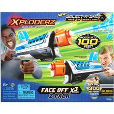 Xploderz Face Off X3 Blaster, 2-Pack