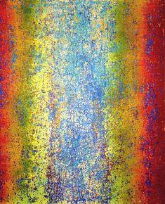 "Saatchi Art Artist Heidi Thompson; Painting, ""Rainbow Patina"" #art"