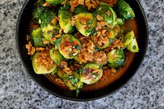 Momofuku's Spicy Brussels Sprouts with Mint