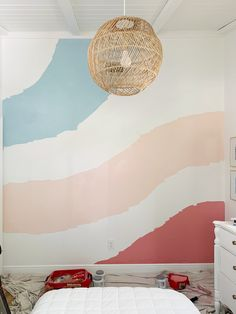 How We Painted A Colorful Abstract Wall Mural (UPDATED!) | Young House Love Room Wall Painting, Young House Love, Wall Murals, Bedroom Murals, Wallpaper Murals, Bedroom Ideas, Bedroom Decor, Woodland Nursery Decor, Animal Nursery