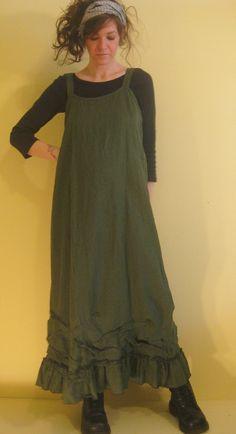 Long Ruffle Slip Dress by sarahclemensclothing on Etsy, $149.00