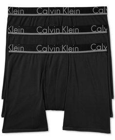 Calvin Klein Men's 3 Pack Comfort Microfiber Boxer Briefs, Only at Macy's