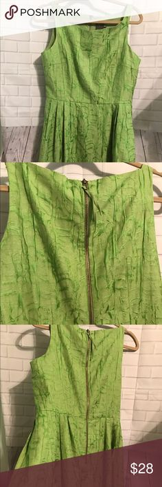 Woman's Taylor Sleeveless Dress Mint condition and lined with exposed zipper, measures Top to bottom 36 inch armpit to armpit is 20 inch waist is 16 inch and has pockets Tanya Taylor Dresses Midi